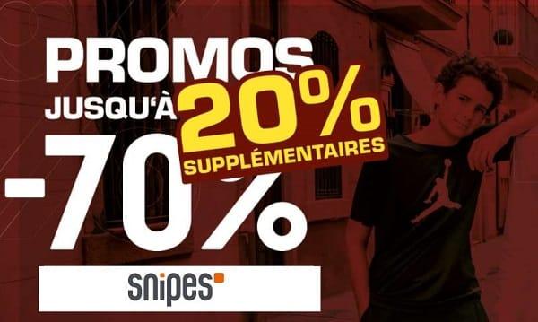 20% Supplémentaire Sur Tout Le Site Snipes