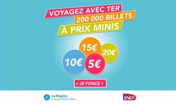 200000 Billets De Train Ter Auvergne Rhône Alpes à Prix Minis