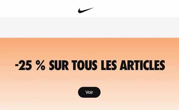 25% De Reduction Sur Tout Le Site Nike (dont Promo)