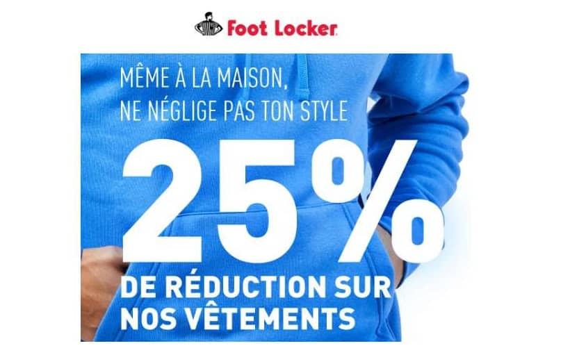 25% De Remise Sur Tous Les Vêtements Vendus Sur Foot Locker