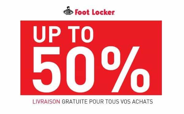 50% De Remise Sur Foot Locker + Livraison Domicile Gratuite