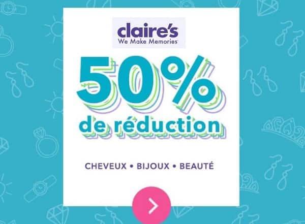 50% De Remise Sur Les Accessoires Beauté, Bijoux Et Cheveux Sur Claire's