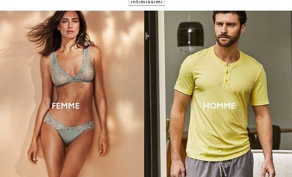 70% Sur Les Fins De Série Lingerie Intimissimi Et Livraison Gratuite Domicile Sur Tout Le Site