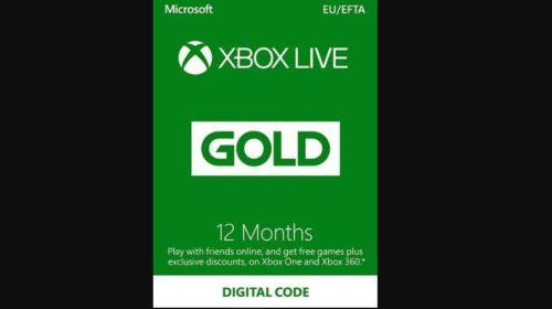 Abonnement Xbox Live Gold 12 Mois Pas Cher