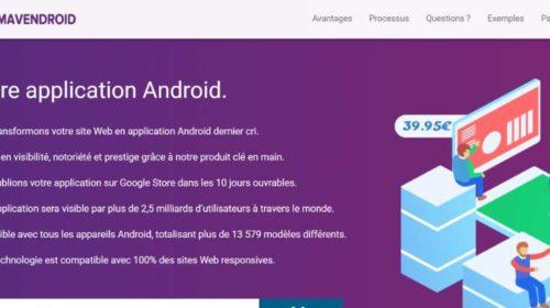 Création Et Publication Application Android Clé En Main Pas Chère Avec Mavendroid