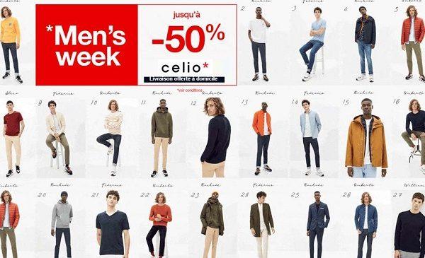 Livraison Gratuite Sans Minimum Sur Celio Et Offre Men's Week
