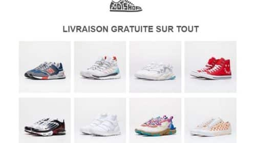 Livraison Gratuite Sur Toutes Les Commandes Sur Le Site Footshop (sneakers... )