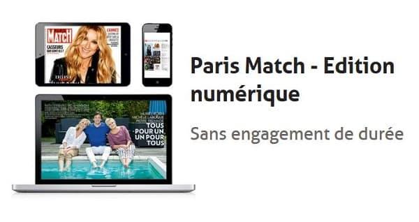 Offre Paris Match Edition Numérique