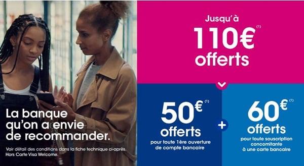 Ouverture D'un Compte Avec Cb Chez Boursorama 110€ Offerts