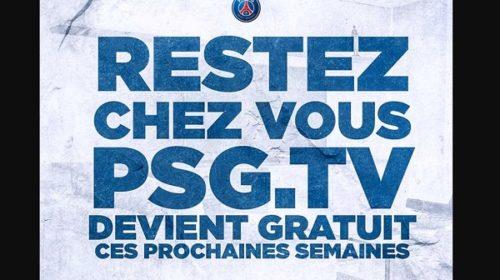 Psg Tv Offre Le Contenu Premium Gratuitement Pendant La Période De Confinement