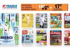 📢 SOUTENEZ LA PRESSE : 17€ de reduction immédiate sur les abonnements magazines sans minimum d'achat 🎁