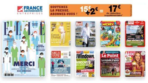 Soutenez La Presse 17€ De Reduction Immédiate Sur Tous Les Abonnements Magazines Sans Minimum D'achat
