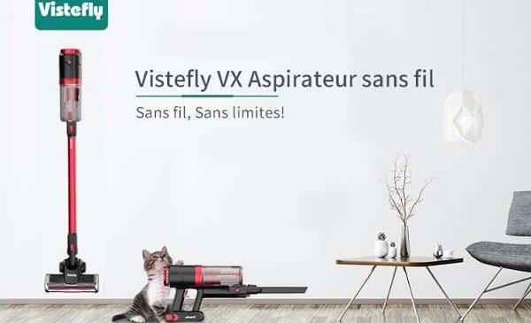 Aspirateur 2 En 1 Sans Fil Ultra Puissant Vistefly Vx