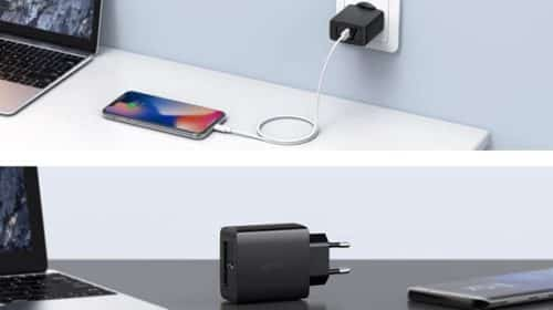 Chargeur Secteur 1 Ports Usb C Power Delivery Aukey Pa Y15 18 W