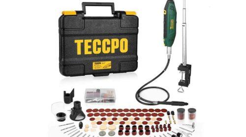 Coffret Outil Multifonction Rotatif Teccpo Et 120 Accessoires Dont Support Extensible Embouts