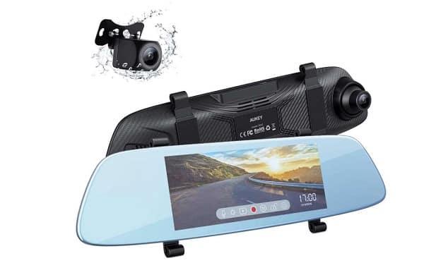 Rétroviseur Tactile Dashcam + Caméra De Recul Aukey