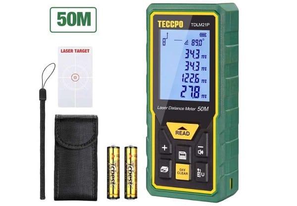 Télémètre Laser Numérique Et Capteur D'angle Teccpo Tdlm21p