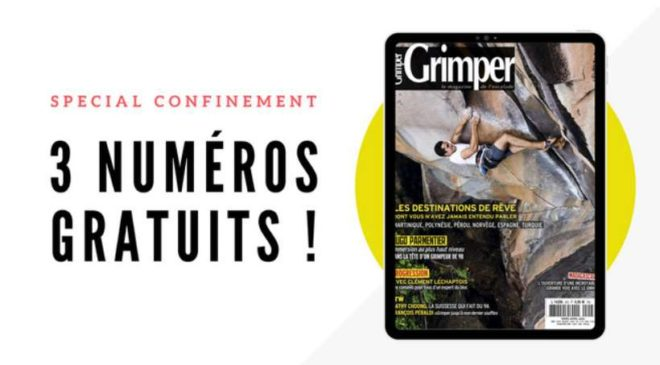 Le trois derniers numéros du magazine Grimper à télécharger gratuitement