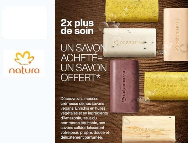 1 Savon Natura Brasil Acheté = 1 Savon Offert