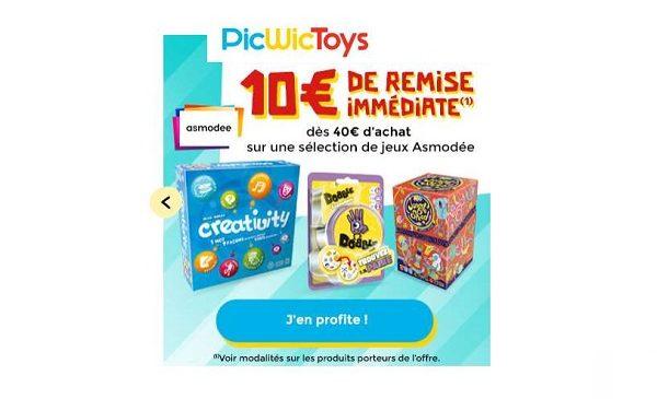 10€ De Remise Immédiate Sur Les Jeux Asmodée Dès 40€ D'achat