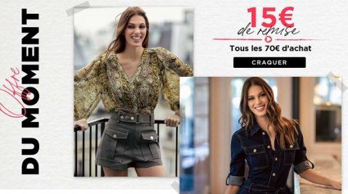 15€ De Remise Tous Les 70€ D'achat Sur Morgan