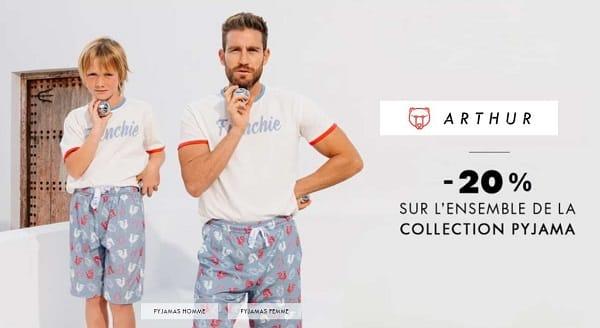 20% De Remise Sur Tous Les Pyjamas Arthur