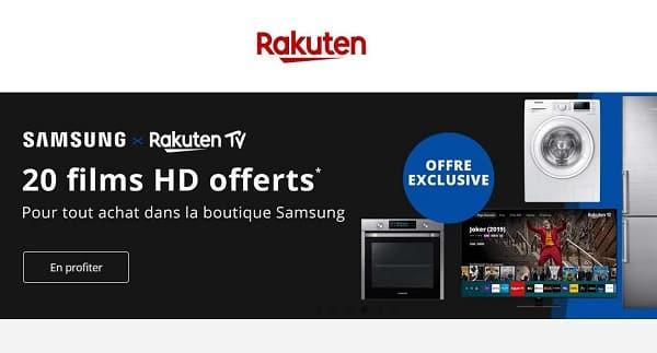 20 Films En Hd Sur Rakuten Tv Offerts Pour Un Achat Sur La Boutique Officiel Samsung De Rakuten