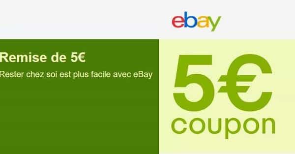 5€ De Remise Sur Une Commande Sur Ebay