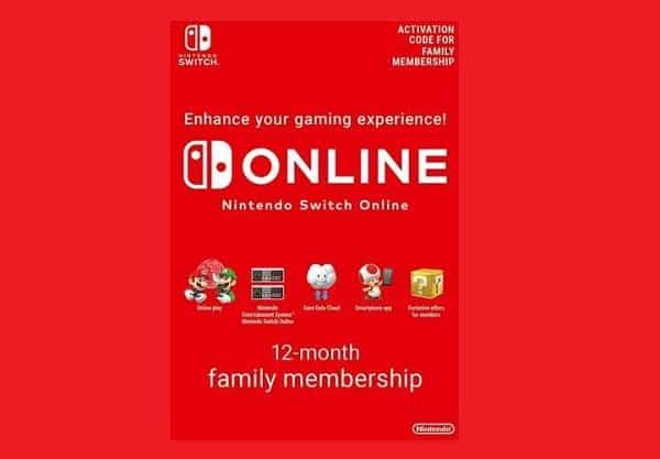 Abonnement 12 Mois Nintendo Switch Online Familial Pas Cher