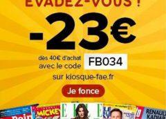Pour avoir de la lecture: 23€ de rabais sur les abonnements magazine (Télé 7 Jours, Le Point, Elle, Mickey….) #Vacancesconfinées