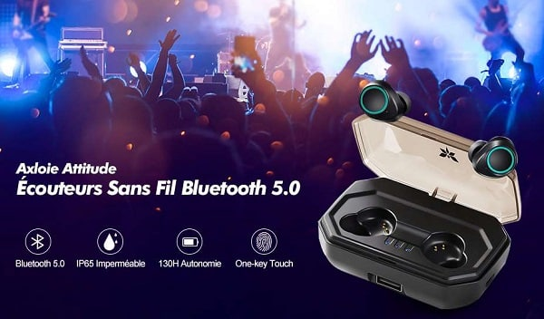 Écouteurs Bluetooth Sans Fils Axloie Attitude