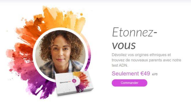 Kit test ADN MyHeritage pas cher : 49€ au lieu 79€ (origines ethniques et famille)