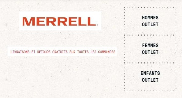 Offre Outlet Merrell
