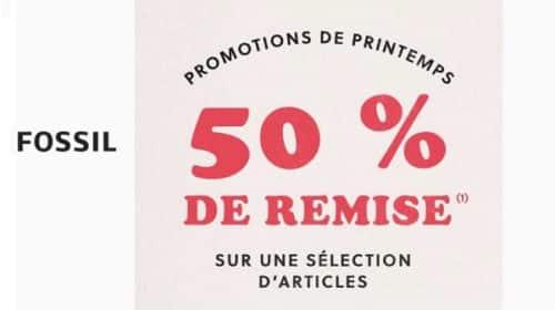 Offre Spéciale Fossil 50% De Remise Sur Une Sélection D'articles