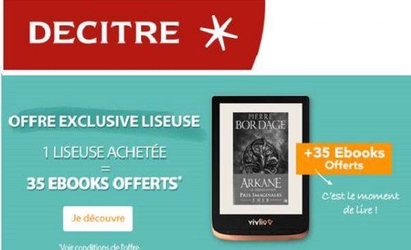 Offre Spéciale Liseuse Vivlio 1 Liseuse Achetée = 1 Pack De 35 Ebooks Offert Par Decitre