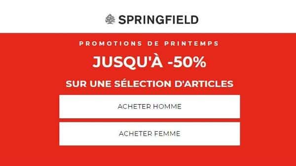 Promotions De Printemps Springfield