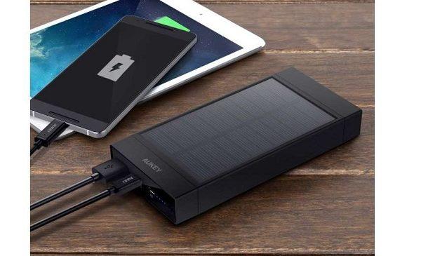 Batterie Externe Chargeur Solaire Aukey Pb P23 16000mah