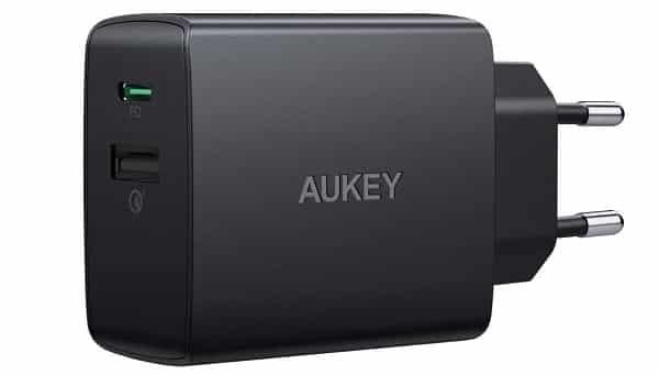 Chargeur Secteur Double Port Aukey Pa Y17 18w