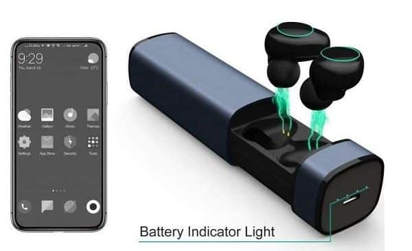 écouteurs Bluetooth Sans Fil Intra Auriculaires Arbily Avec Boîtier De Charge