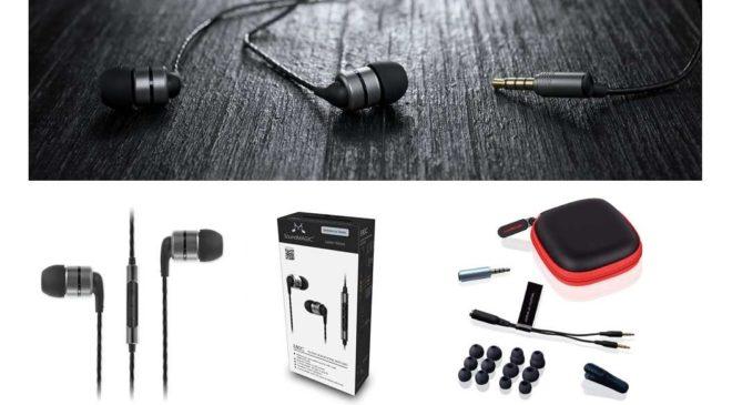 écouteurs Haute Fidélité Avec Micro, Télécommande Et Reduction De Bruit Soundmagic E80c Gunmetal