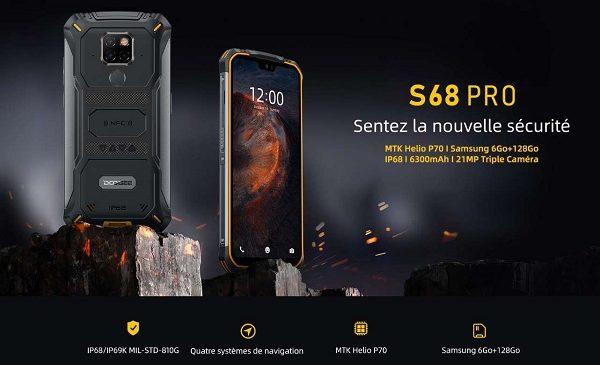 Smartphone Antichoc étanche Doogee S68pro