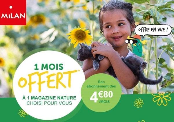 1 Mois Offert à 1 Magazine Nature De Milan Jeunesse
