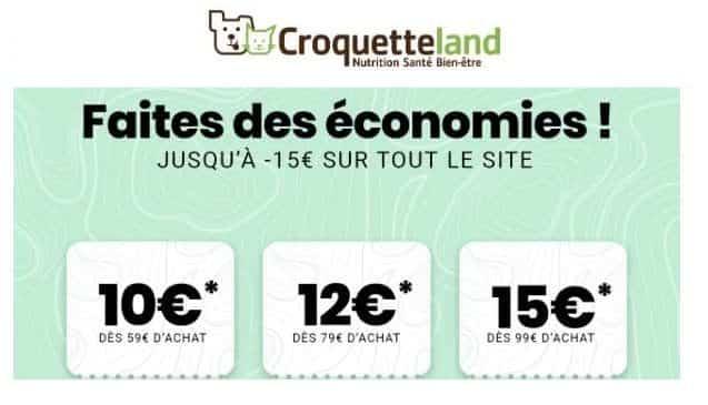 10€ à 15€ De Remise Sur Votre Commande Croquetteland