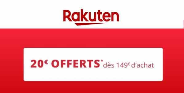 149€ D'achat Sur Rakuten = 20€ De Remise Immédiate