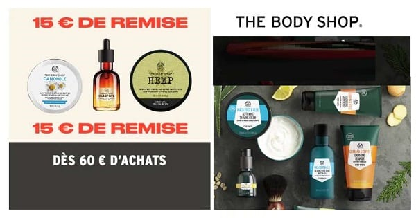 15€ De Reduction Sur Votre Commande The Body Shop Dès 60€
