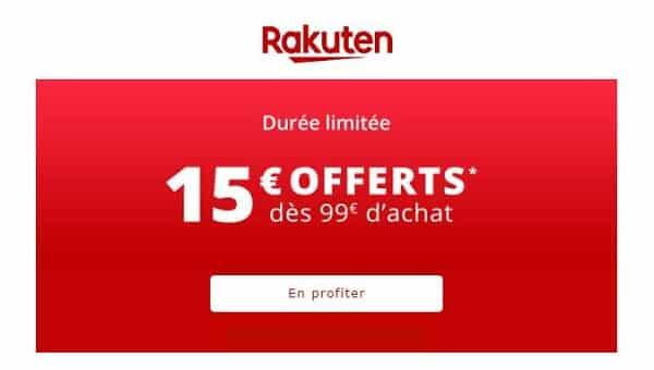 15€ De Remise Sur Rakuten Pour 99€ D'achats