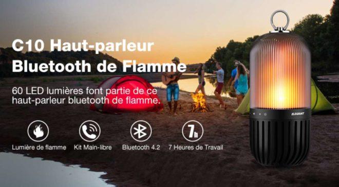 2 En 1 Lampe Enceinte Bluetooth Portable étanche Elegiant C10