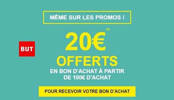 20€ Offerts En Bon D'achat Sur But à Partir De 100€ D'achat