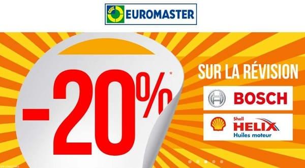 20% De Remise Immédiate Pour Une Révision Constructeur Dans Un Centre Auto Euromaster