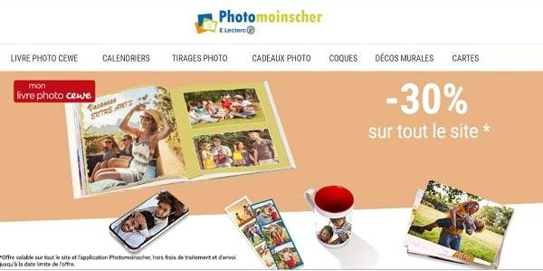 30% De Reduction Sur Tout Le Site Photomoinscher De Leclerc